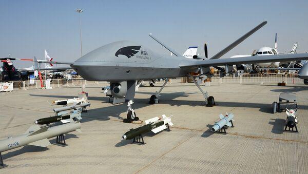 Dubai Airshow 2017 da namoyish etilgan harbiy dronlar - Sputnik Oʻzbekiston