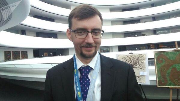 Участник Astana Club, программный директор Российского совета по международным делам Иван Тимофеев - Sputnik Узбекистан