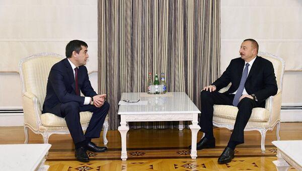 Prezident Azerbaydjana prinyal zamestitelya premyer-ministra Uzbekistana Alishera Sultanova - Sputnik Oʻzbekiston