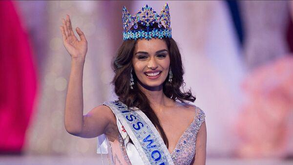 Представительница Индии Мануши Чхиллар завоевала титул Мисс Мира-2017 - Sputnik Ўзбекистон