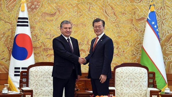 Shavkat Mirziyoyev i Mun Chje In - Sputnik Oʻzbekiston