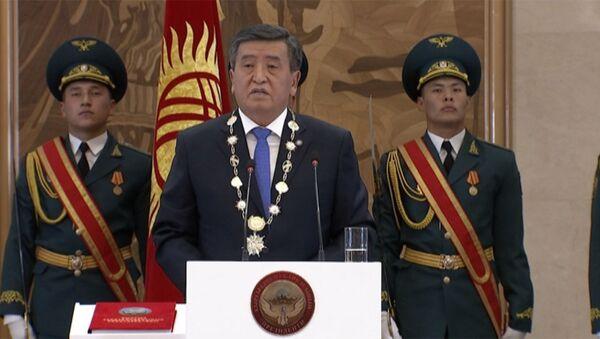 Prezident Jeenbekov o vnutrenney i vneshney politike  - Sputnik Oʻzbekiston