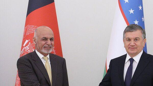 Встреча Ашрафа Гани и Шавката Мирзиёева - Sputnik Узбекистан
