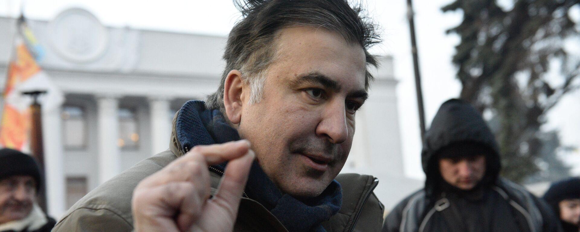 Бывший губернатор Одесской области Михаил Саакашвили отвечает на вопросы журналистов - Sputnik Узбекистан, 1920, 01.10.2021