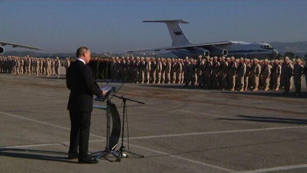 Путин прилетел в Сирию и приказал вывести войска - Sputnik Ўзбекистон