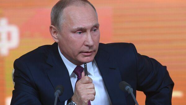 Yejegodnaya bolshaya press-konferentsiya prezidenta RF Vladimira Putina - Sputnik Oʻzbekiston