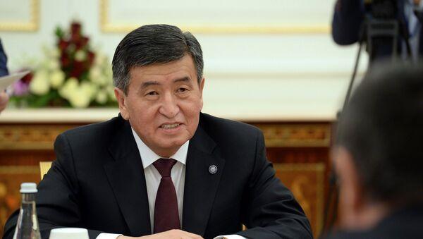 Президент Кыргызстана Сооронбай Жээнбеков - Sputnik Ўзбекистон