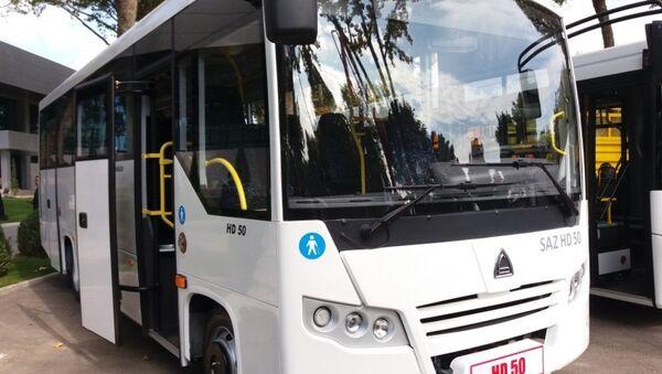 Автобусы SAZ HD 50, производимые Самаркандским автомобильным заводом - Sputnik Ўзбекистон