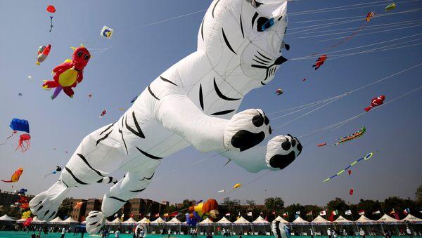 Фестиваль воздушных змеев в Ахмадабаде (штат Гуджарат), Индия - Sputnik Узбекистан