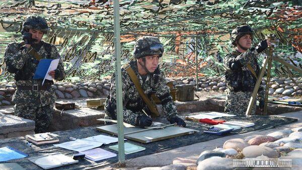 Военнослужащие Узбекистана на учениях - Sputnik Ўзбекистон