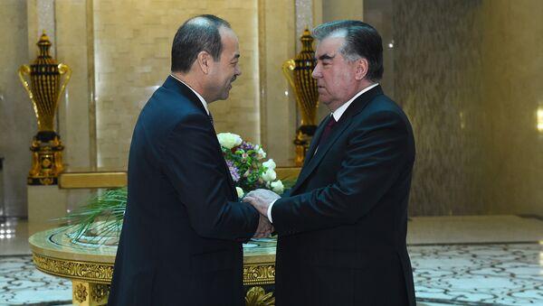 Vstrecha prezidenta Tadjikistana Emomali Raxmona s premyer-ministrom Uzbekistana Abdulloy Aripovыm - Sputnik Oʻzbekiston