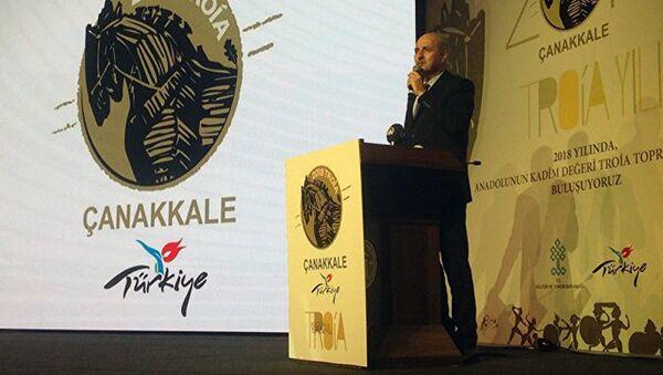Министр культуры и туризма Турции Нуман Куртулмуш на цермонии открытия Года Трои - Sputnik Ўзбекистон