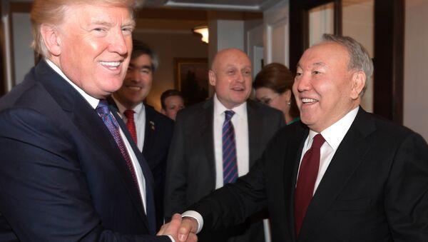 Встреча Дональда Трампа и Нурсултана Назарбаева - Sputnik Узбекистан