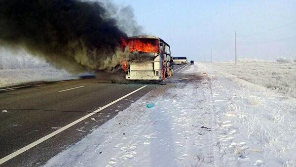 Sgorevshiy avtobus, v kotorom pogibli 52 cheloveka iz Uzbekistana - Sputnik Oʻzbekiston