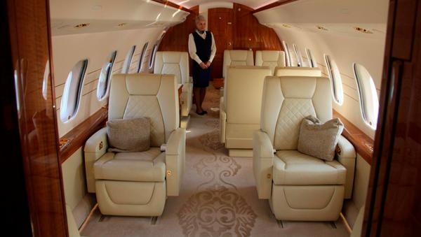 Самолет бизнес-класса в аэропорту Ташкента - Sputnik Ўзбекистон