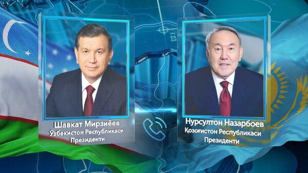 Mirziyoyev Nazarbayev - Sputnik Oʻzbekiston