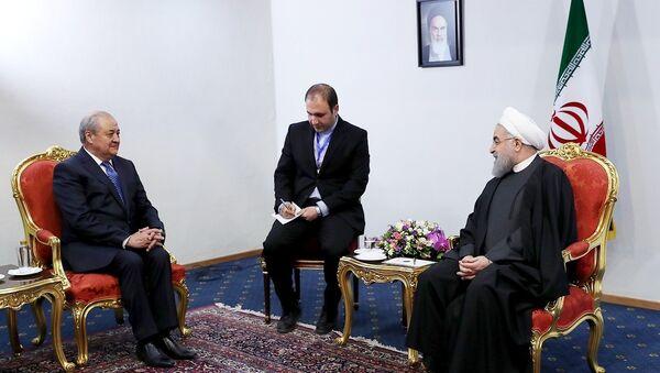 Встреча Абдулазиза Камилова с Хасаном Роухани - Sputnik Узбекистан