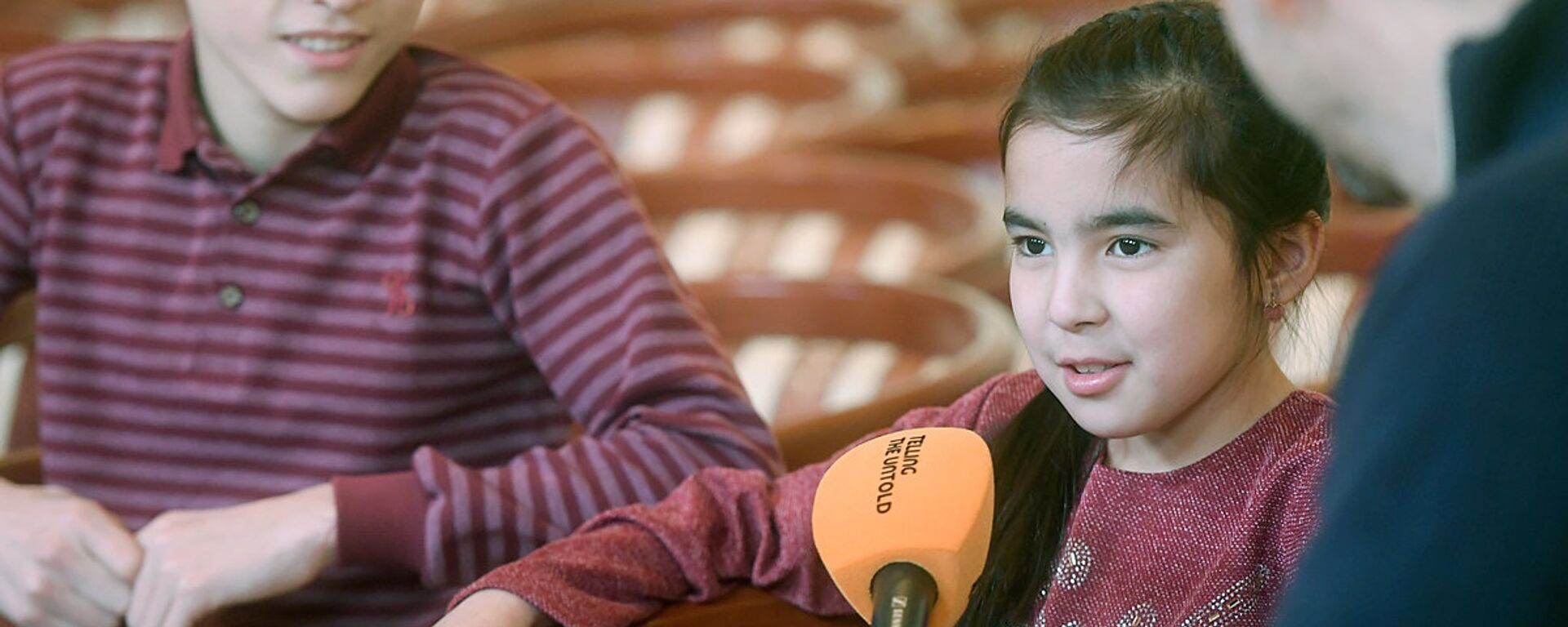 Участники проекта Ты супер! из Узбекистана во время интервью - Sputnik Узбекистан, 1920, 16.02.2018