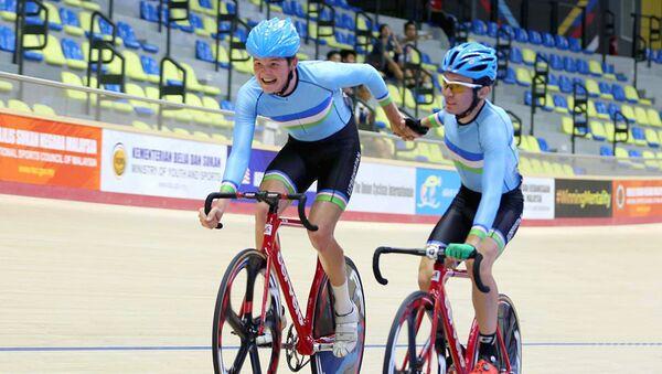 Велосипедисты из Узбекистана на чемпионате Азии по велоспорту - Sputnik Узбекистан