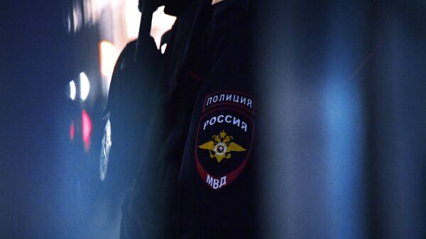 Нашивка на рукаве сотрудника полиции в России, архивное фото - Sputnik Узбекистан