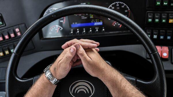 Водитель за рулем автомобиля - Sputnik Ўзбекистон