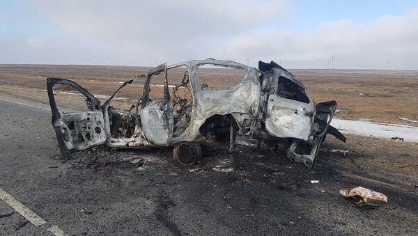Семеро человек погибли в аварии на трассе Актау-Бейнеу - Sputnik Ўзбекистон
