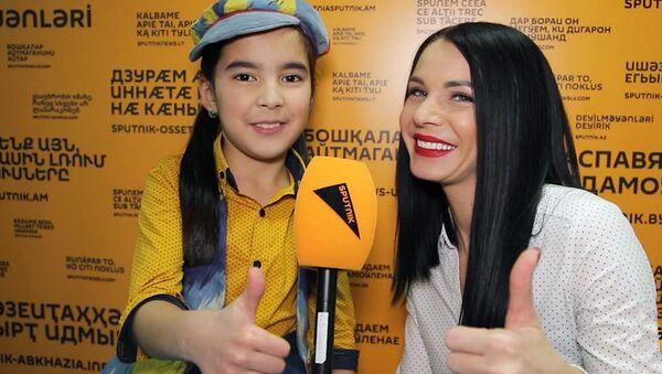 Севинч Ходиева перед выступлением в шоу Ты супер! - Sputnik Узбекистан