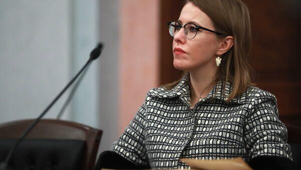 Телеведущая, кандидат в президенты РФ от партии Гражданская инициатива Ксения Собчак - Sputnik Узбекистан