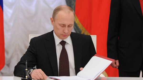 V.Putin podpisal Ukaz ob obrazovanii Krыmskogo Federalnogo okruga RF - Sputnik Oʻzbekiston