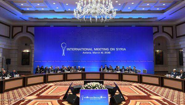 Встреча глав МИД стран-гарантов перемирия в Сирии - Sputnik Узбекистан