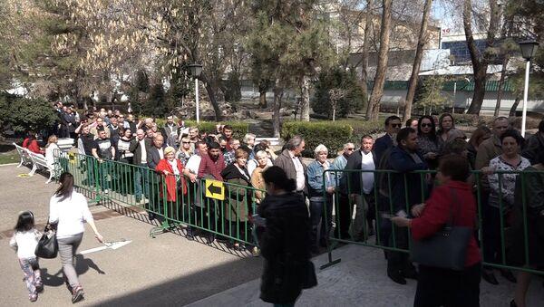 Очередь на избирательный участок в Ташкенте - Sputnik Ўзбекистон
