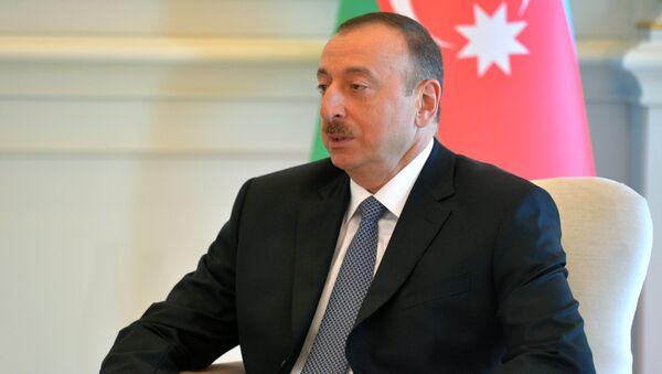 Президент Азербайджана Ильхам Алиев - Sputnik Ўзбекистон