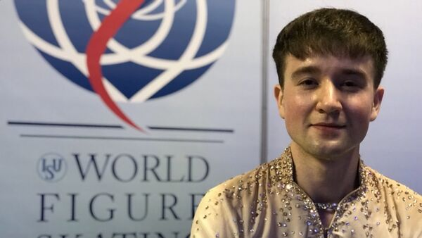 Фигурист Миша Ге на чемпионате мира в Милане - Sputnik Узбекистан