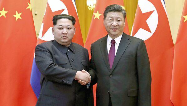 Ким Чен Ын в Китае. 28 марта 2018 года - Sputnik Ўзбекистон