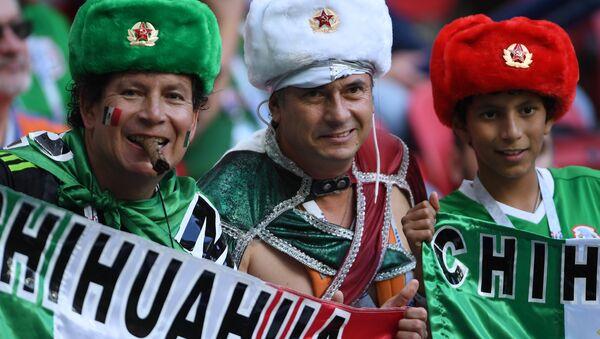 Болельщики сборной Мексики - Sputnik Ўзбекистон