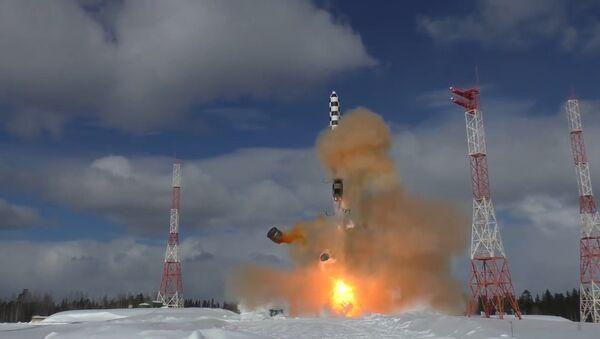 Минобороны опубликовало видео испытаний ракеты Сармат - Sputnik Ўзбекистон