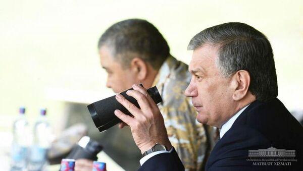 Президент Шавкат Мирзиёев посетил полигон Фориш - Sputnik Ўзбекистон