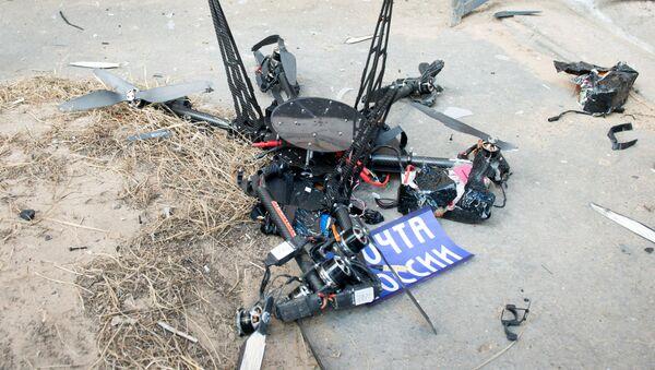 Испытательный полет дрона Почты России - Sputnik Узбекистан