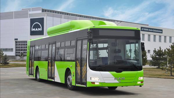 Низкопольный автобус большой вместимости MAN - Sputnik Ўзбекистон