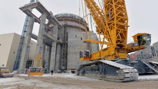 Строящаяся атомная электростанция. Иллюстративное фото - Sputnik Узбекистан