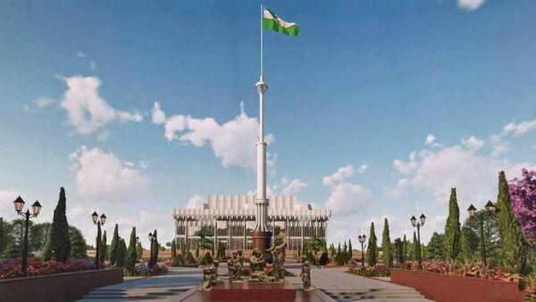 50 метровый флагшток в центре Ташкента - Sputnik Ўзбекистон
