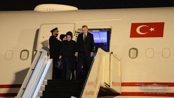 Президент Турции прибыл в Ташкент - Sputnik Ўзбекистон