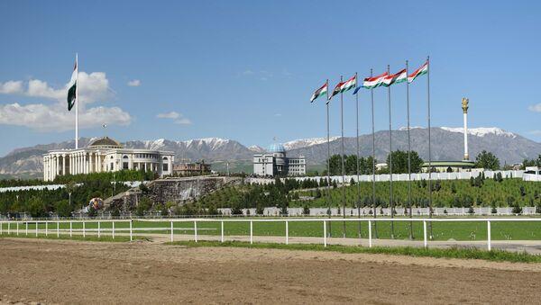 Панорама на город Душанбе, архивное фото - Sputnik Ўзбекистон