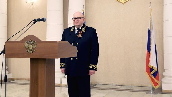 Posol RF v Uzbekistane Vladimir Tyurdenev na priyeme v chest 9 maya - Sputnik Oʻzbekiston