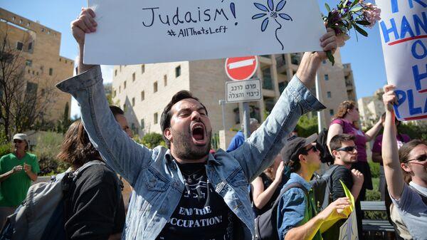 Протесты против переноса посольства США из Тель-Авива в Иерусалим - Sputnik Ўзбекистон