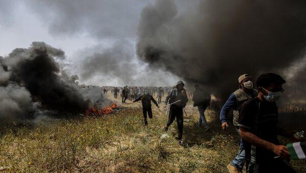 Акции протеста на границе сектора Газа и Израиля - Sputnik Ўзбекистон