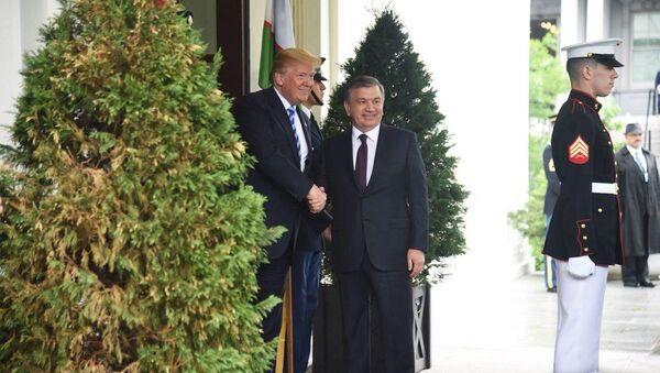 Шавкат Мирзиёев и Дональд Трамп на встрече в Белом доме - Sputnik Ўзбекистон