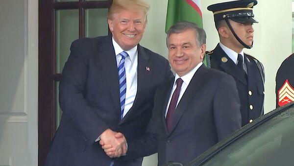 Prezident Uzbekistana Shavkat Mirziyeyov vo vremya vizita v SSHA - Sputnik Oʻzbekiston