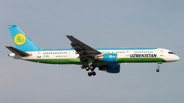 Boing-757 Uzbekiston xavo yullari - Sputnik Oʻzbekiston