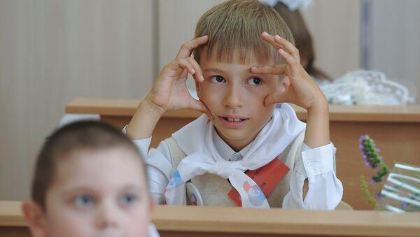 Начало учебного года в школах России - Sputnik Узбекистан